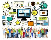 Diversity Casual People Web Design Teamwork Celebration Concept
