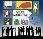 Online Marketing Branding Global Communication Analysing Concept
