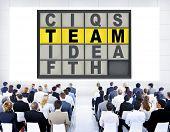 Team Puzzle Problem Solving Corporate Connection Concept