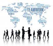 Global Business People Greeting Handshake Teamwork Concept