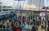 LONDON, UK - NOVEMBER 29, 2014: Stratford international train and tube station, one of the biggest t