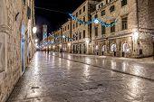 Dubrovnik Stradun in the night