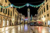 Dubrovnik Stradun New Year decoration