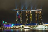 Laser Show In Marina Bay Sands, Singapore