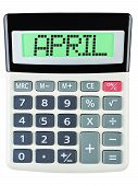 Calculator With April