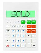 Calculator With Sold