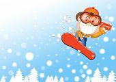 snow boarding boy