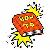 retro comic book style cartoon how to book