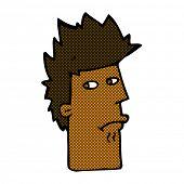 retro comic book style cartoon nervous expression