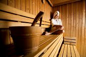 Постер, плакат: Young Woman In The Sauna