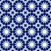 Ornamental Seamless Pattern, Arabic Tile, Vector Background