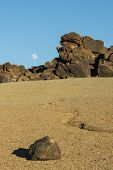 Rocks, Moon And Sand