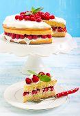 Lemon Cake With Raspberry