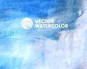 Blue Vector watercolor background with place for your text