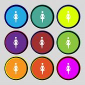 stock photo of female toilet  - Female sign icon - JPG