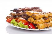 Kebab Over White Background