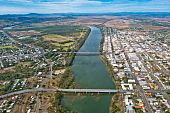 Aerial View Of Rockhampton, Queensland, Australia