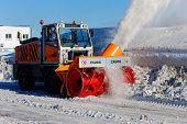 NIZHNY NOVGOROD. RUSSIA. FEBRUARY 17, 2015. Rotor ZAUGG snowplow