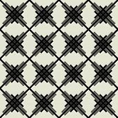 art black graphic geometric seamless pattern, square background with diagonal tiled ornament in art deco style