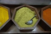 picture of cumin  - Cumin dust in a souk in Dubai - JPG