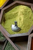 stock photo of cumin  - Cumin dust in a arabian souk in Dubai - JPG