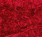 Red Rosette Rose Background fabric