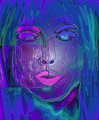 Abstract Plastic Like Woman