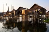 Floating Village At Inle Lake, Shan State, Myanmar
