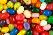 stock photo of jelly beans  - Close up of assorted multicolored jelly beans - JPG