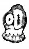 Funny doodle monster