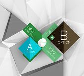 Color paper infographics, vector business design template