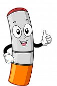 image of e-cig  - Mascot Illustration of an Electronic Cigarette - JPG