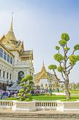 BANGKOK, THAILAND, DECEMBER 26, 2013: Tourists visit Royal Palace