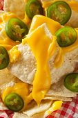 Homemade Nachos With Cheddar Cheese