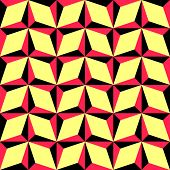 Seamless Rhombus Pattern. Vector Background