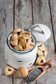 pic of purim  - Hamantaschen cookies or Haman - JPG