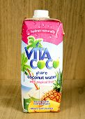 Bottle Of Vita Coco Coconut Water With Tropical Fruit