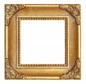 Gold Square Picture Frame