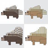 symbol icon rectangle animal porcupine