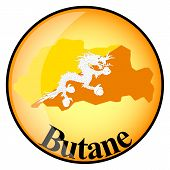 Orange Button With The Image Maps Of Button Butane
