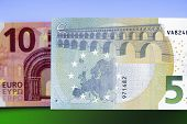 Ten And Five Euro Banknotes