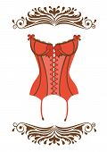 Sexy retro style corset