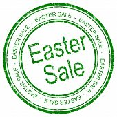 Easter Sale rubber stamp