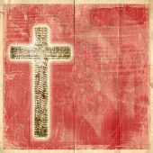 pic of holy-spirit  - Glowing holy cross on abstract paper background - JPG