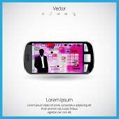 Business software and social media networking concept, vector