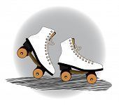 old fashioned  vintage roller blades