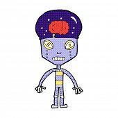 retro comic book style cartoon weird robot