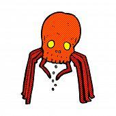 retro comic book style cartoon spooky skull spider