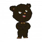 retro comic book style cartoon cute teddy bear