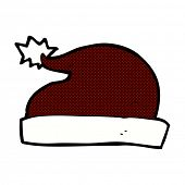 retro comic book style cartoon santa hat